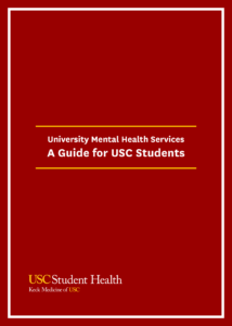 Booklet cover University Mental Health Services
