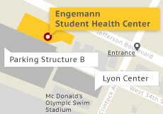 Engemann Student Health Center Map